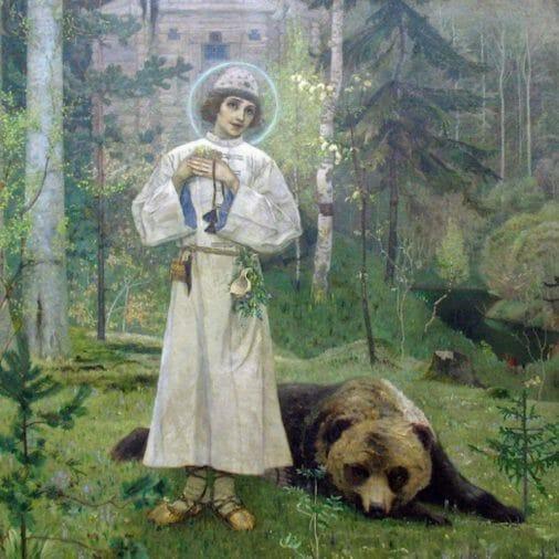 St Seraphim of Sarov and the bear